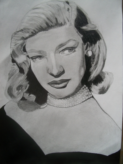 Lauren Bacall by Selene
